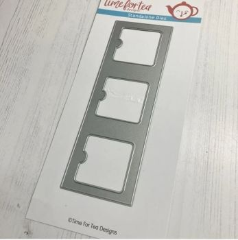 ***NEW*** Time For Tea - Lift The Flap Slimline Add On Die set