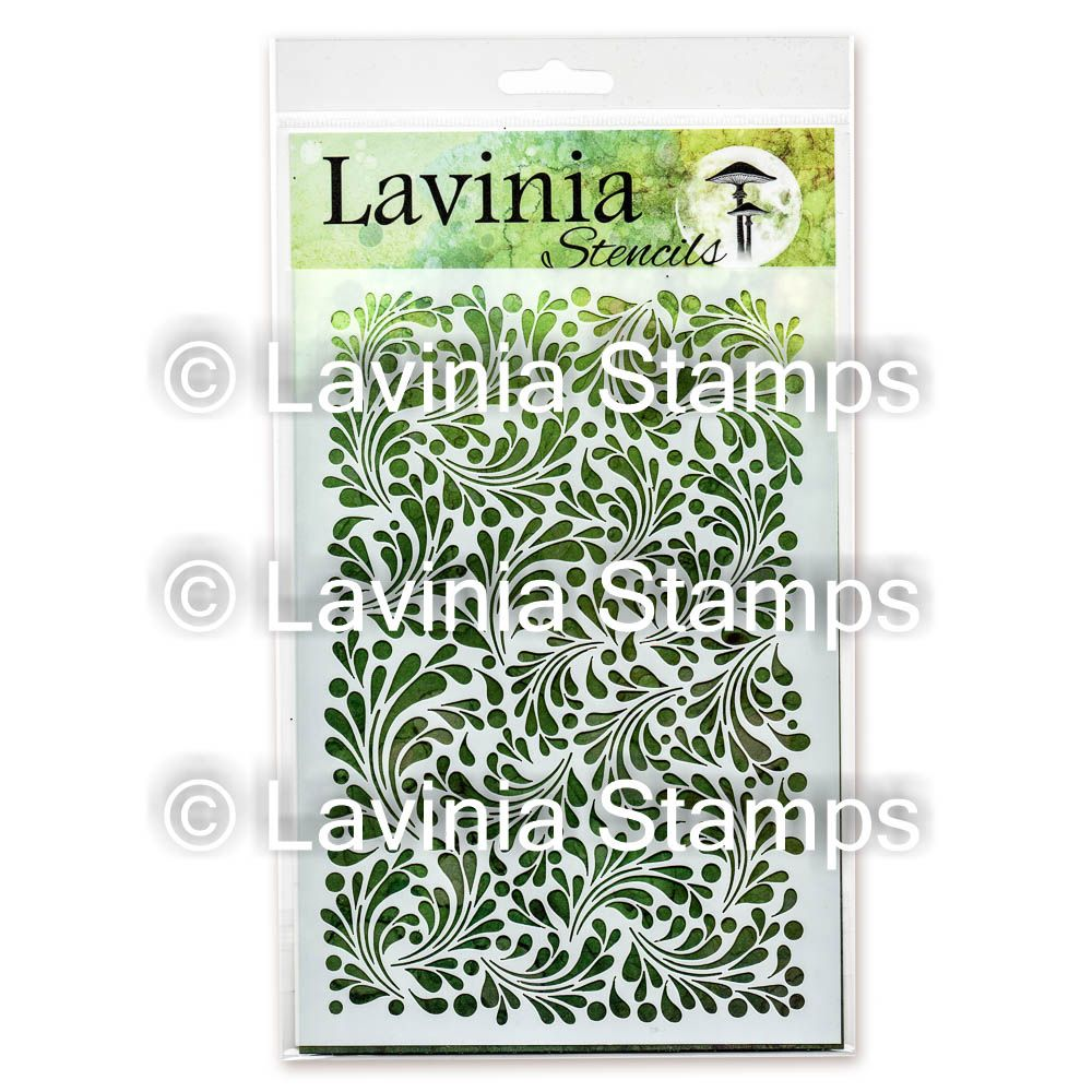 Lavinia Stamps - Feather Leaf Stencil