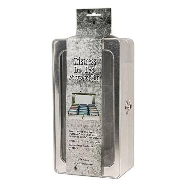 Ranger Tim Holtz Distress Ink Pad Storage Tin – Holds (15) 3″ x 3″ Ink Pads
