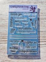 Sentiment Sett Stamp Set - Crafty Purple Frog