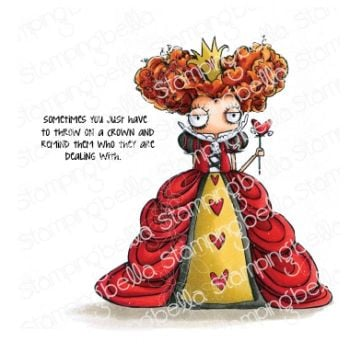 ***PRE-ORDER*** Stamping Bella - ODDBALL QUEEN OF HEARTS RUBBER STAMP (ALICE IN WONDERLAND COLLECTION)