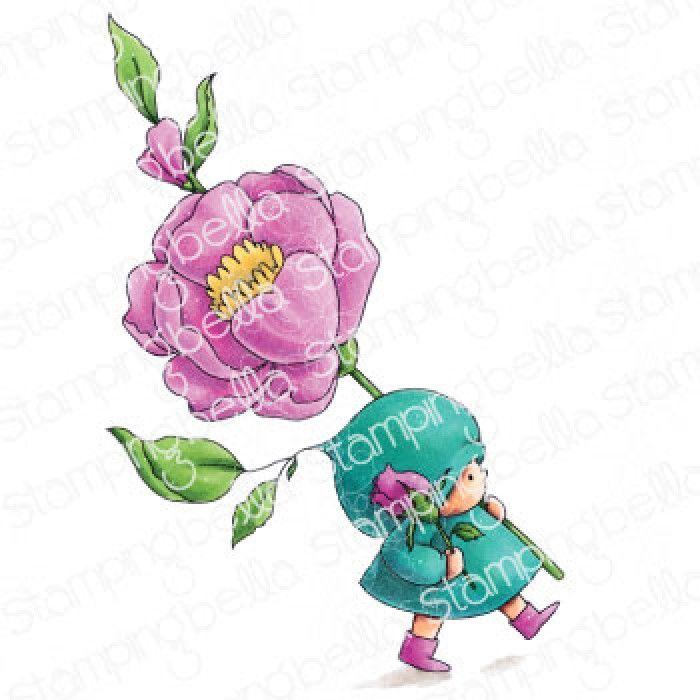 Stamping Bella - BUNDLE GIRL WITH A ROSE