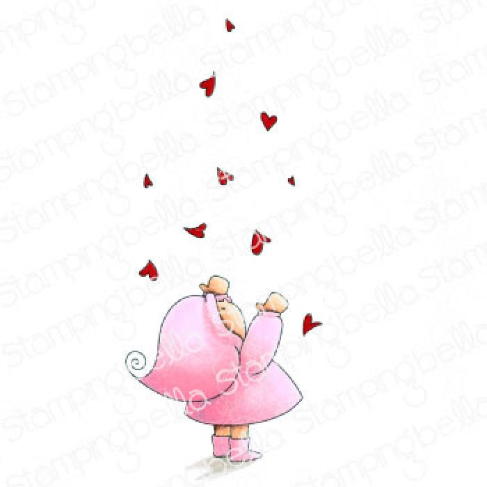 Stamping Bella - BUNDLE GIRL WITH FALLING HEARTS