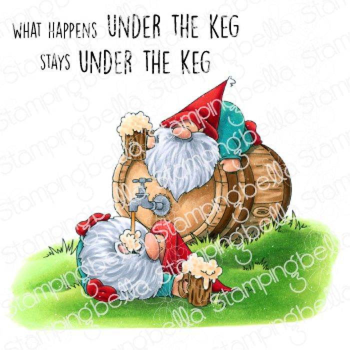 Stamping Bella - Gnomes - TWO GNOMES AND A KEG