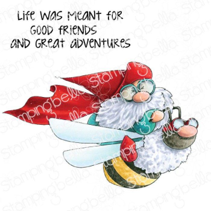Stamping Bella - Gnomes - FLYING GNOME