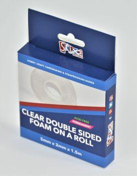 Clear Foam Roll - 5mm x 2mm x 1.5m (approx.)