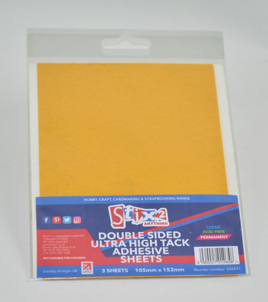 Double Sided Polyester Ultra Clear Sheets - 105mm x 152mm