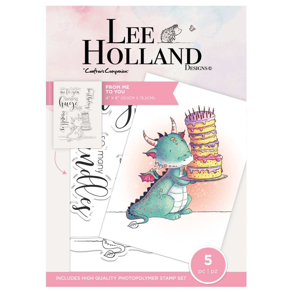 ***NEW*** Crafter's Companion Lee Holland Photopolymer Stamp - From Me to Y