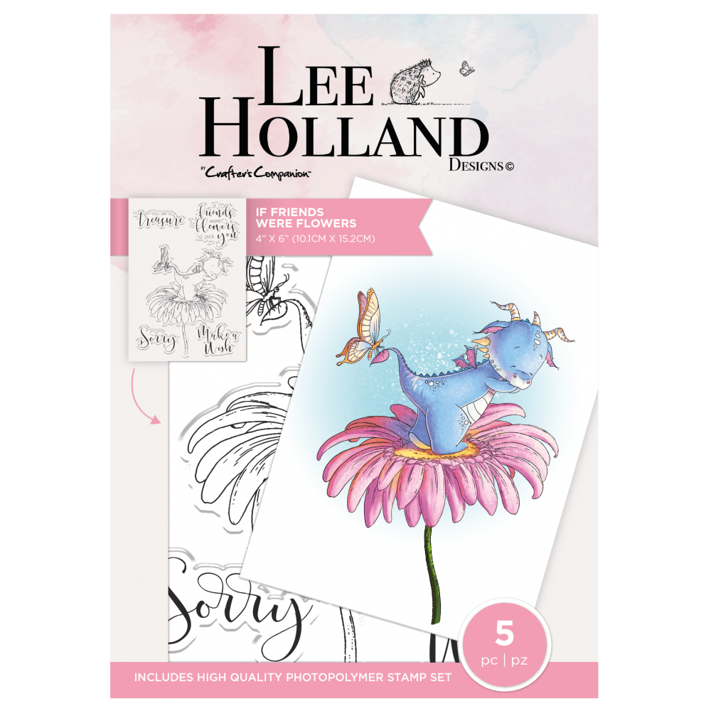 ***NEW*** Crafter's Companion Lee Holland Photopolymer Stamp - If Friends W