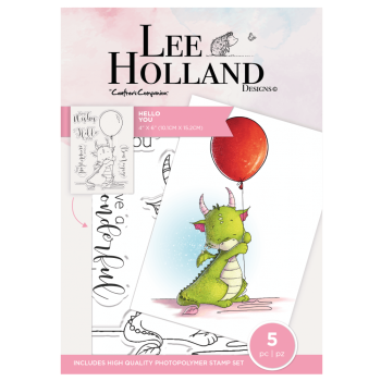 ***NEW*** Crafter's Companion Lee Holland Photopolymer Stamp - Hello You