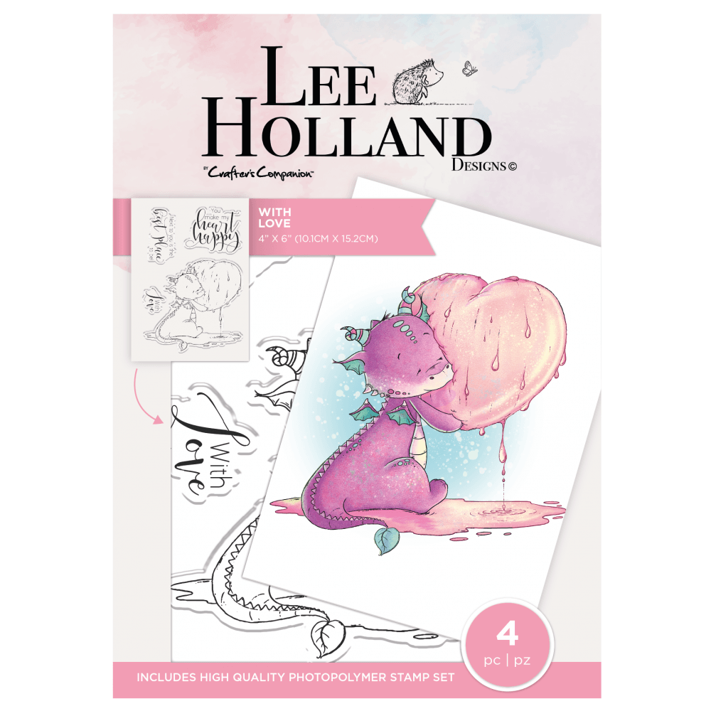 ***NEW*** Crafter's Companion Lee Holland Photopolymer Stamp - With Love