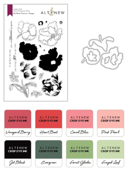 Build-A-Flower: Poppy Layering Stamp & Die Set & Ink Bundle