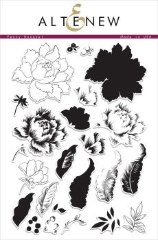 Peony Bouquet Stamp & Die Bundle