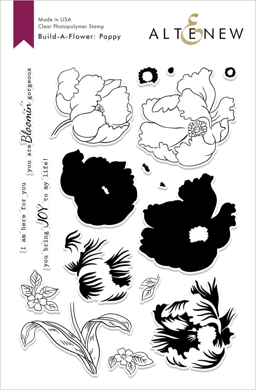 Build-A-Flower: Poppy Layering Stamp & Die Set