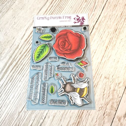 ****NEW**** Blooming Marvelous Stamp Set - Crafty Purple Frog