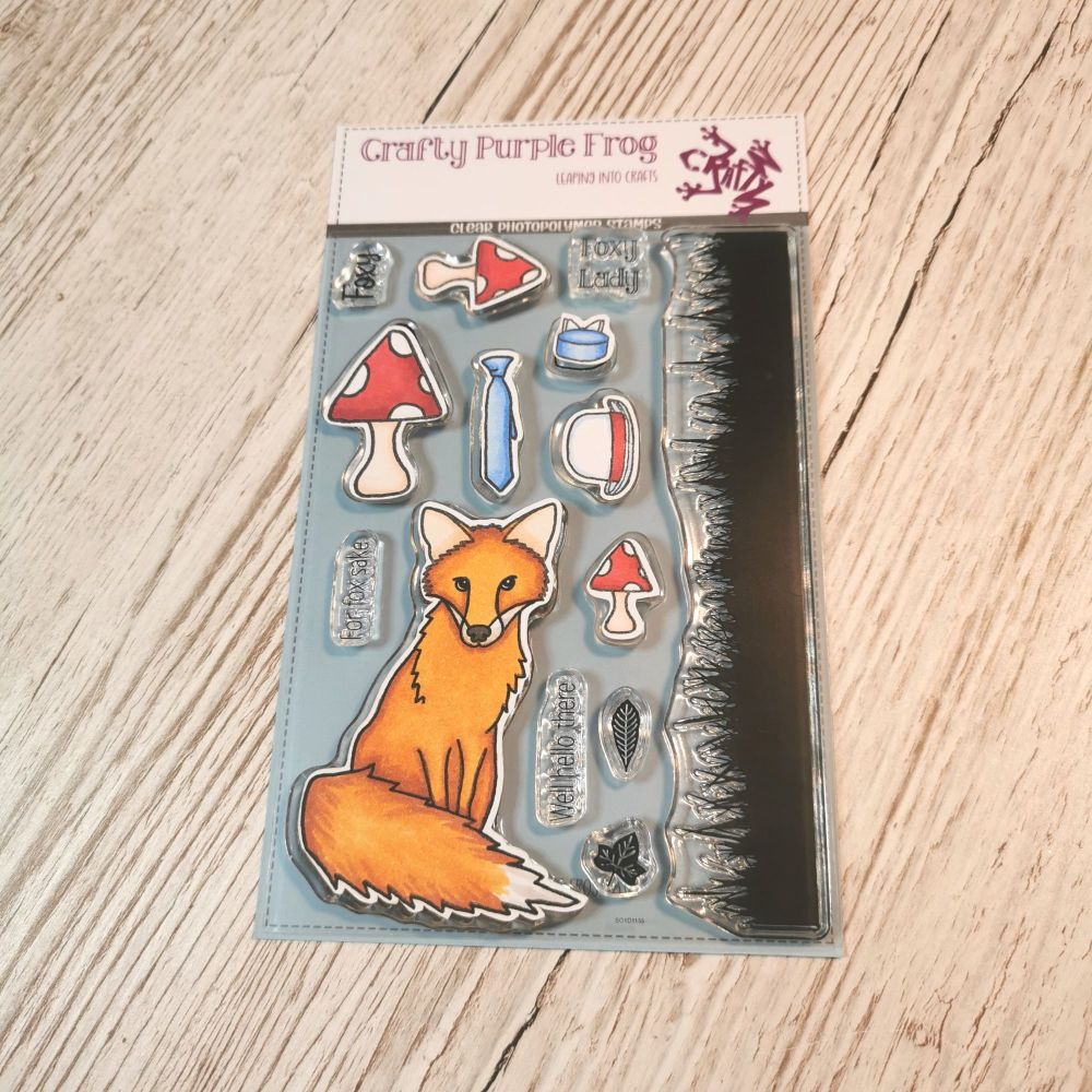 ****NEW**** Foxy Stamp Set - Crafty Purple Frog