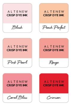 Pretty in Peach 6 Crisp Dye Ink Mini Cube Set