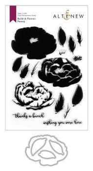 Build-A-Flower: Peony Layering Stamp & Die Set Bundle