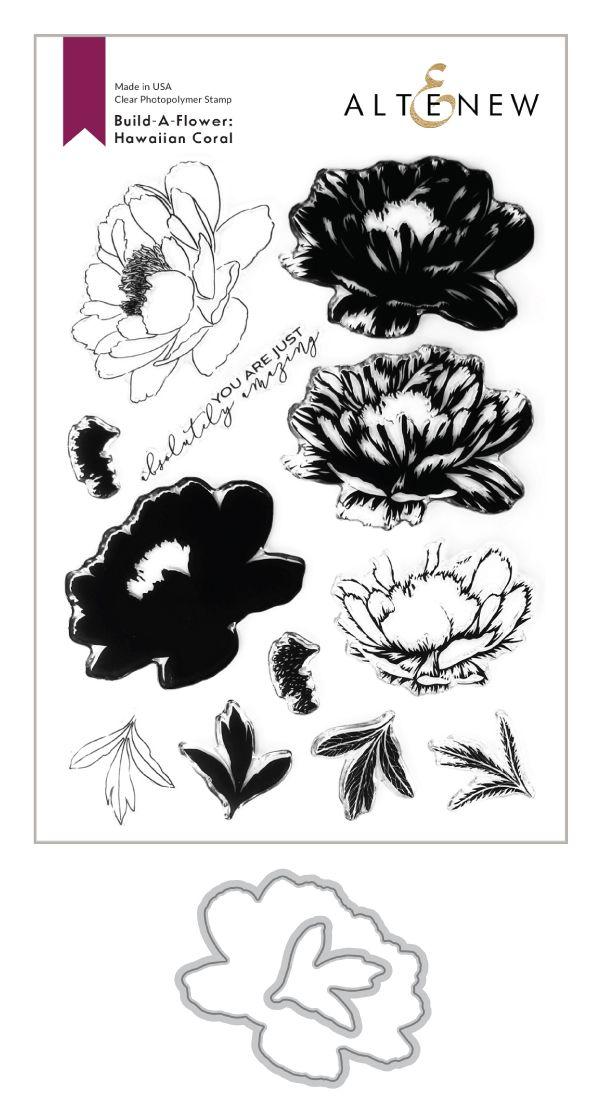 Build-A-Flower: Hawaiian Coral Layering Stamp & Die Set