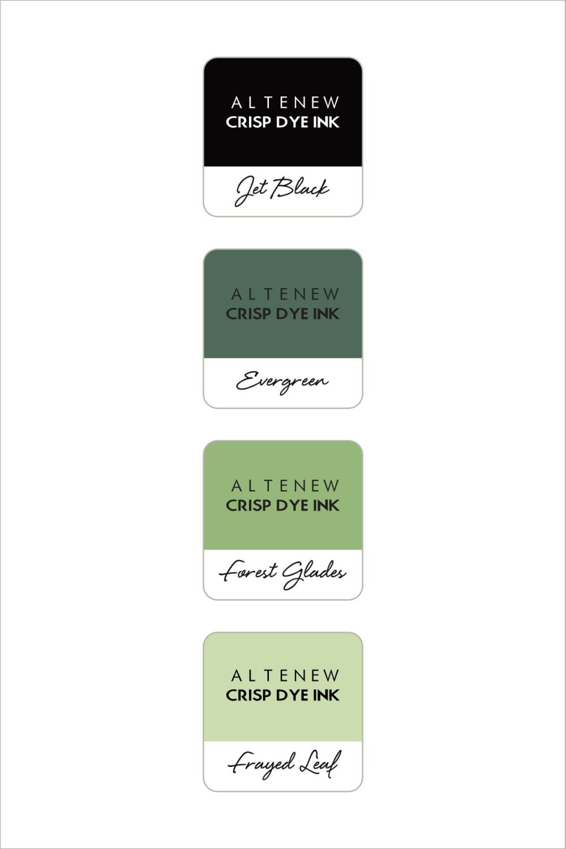 Green Fields 4 Crisp Dye Ink Mini Cube Set