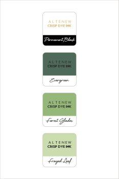 Green Fields with Permanent Black Crisp Dye Ink MIni Cube Set
