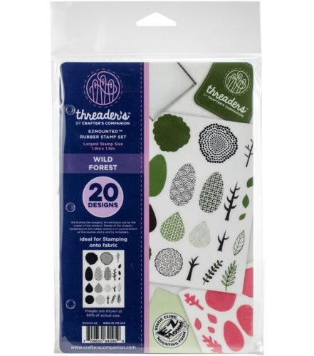 Crafter's Companion  A6 Rubber Stamp - Threaders - Wild Forest