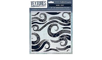 Textures elements - Wind- vent - 8 x 8 embossing folder