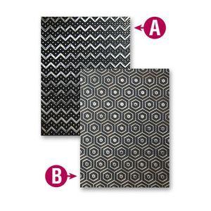 Spellbinders - M-Bossabilities (reversible) embossing folder - So Trendy
