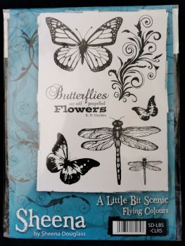 Crafter's Companion  A5 Rubber Stamp - Sheena Douglas A little bit scenic- Flying colours