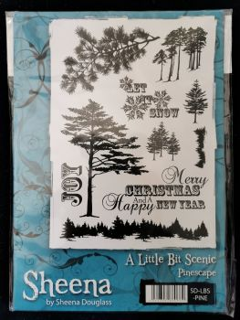 Crafter's Companion  A5 Rubber Stamp - Sheena Douglas A little bit scenic- Pinescape