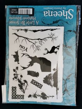 Crafter's Companion  A5 Rubber Stamp - Sheena Douglas A little bit scenic- Highlands Silhouette