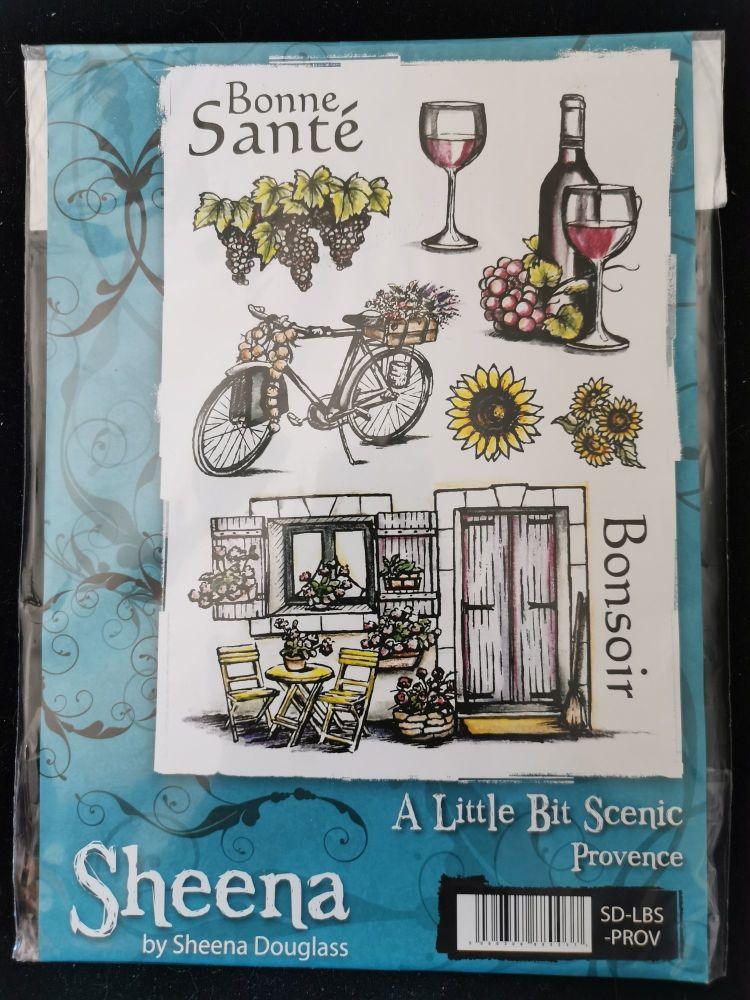 Crafter's Companion  A5 Rubber Stamp - Sheena Douglas A little bit scenic-