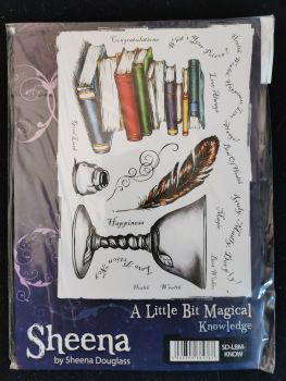 Crafter's Companion  A5 Rubber Stamp - Sheena Douglas A little bit magical - Knowledge