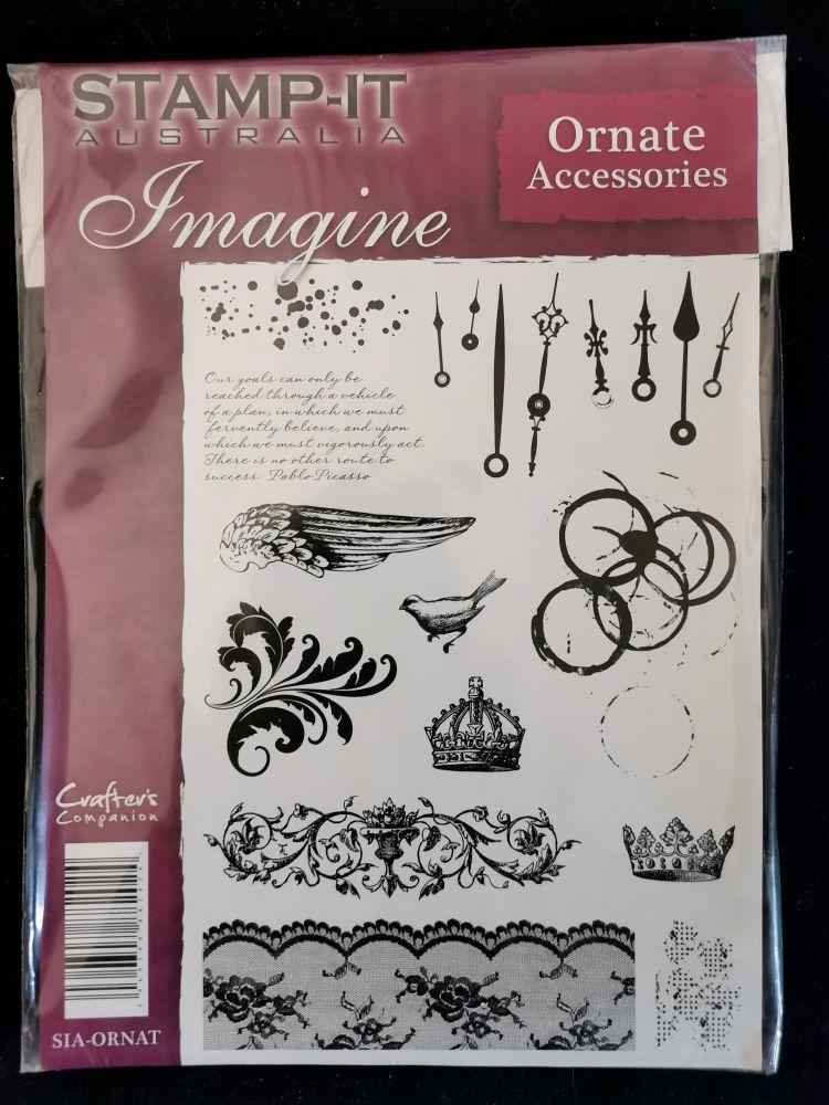 Crafter's Companion  A5 Rubber Stamp - Imagine - Ornate Accessories