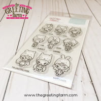 Happy Hats clear stamp set - The Greeting Farm