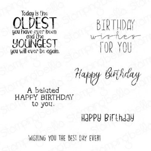 ***PRE-ORDER***NEW***Stamping Bella - SENTIMENT SET HAPPY BIRTHDAY TO YOU