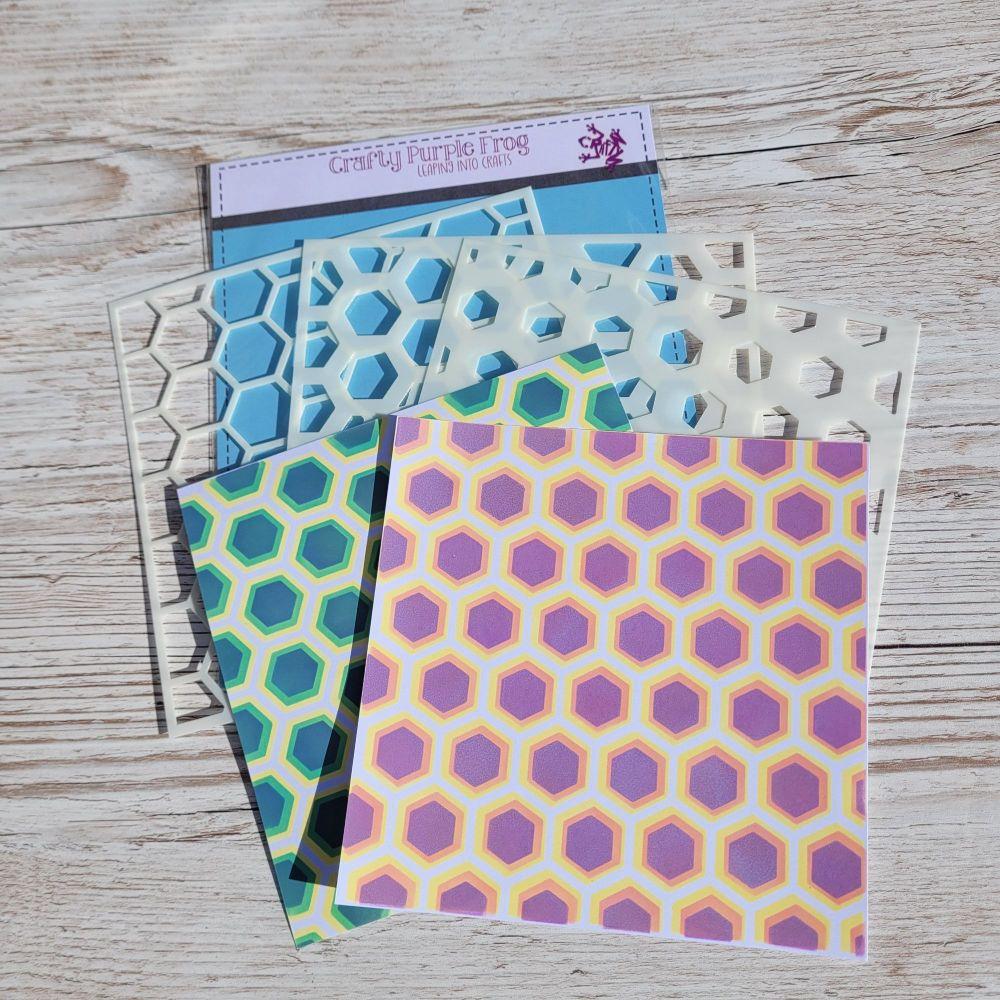 ****NEW**** Honeycomb layering stencils - Crafty Purple Frog