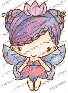 Fairy Queen rubber Anya stamp - The Greeting Farm