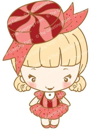 Love Peppermint red rubber Anya stamp - The Greeting Farm