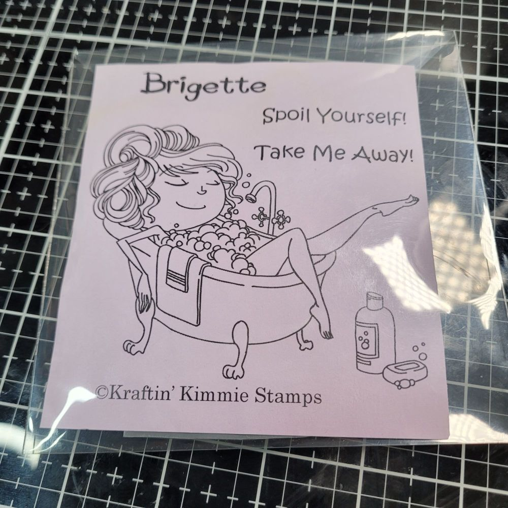 ** 2nd hand ** Brigette - Early Kraftin' Kimmie stamp
