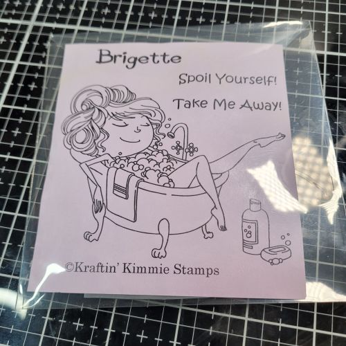 ** 2nd hand ** Brigette - Early Kraftin' Kimmie stamp