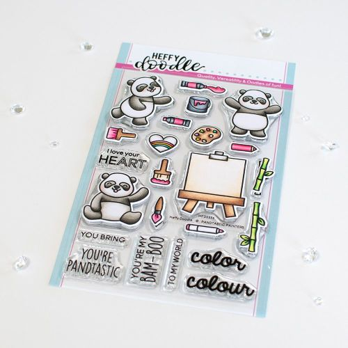 ***NEW*** Heffy Doodle - Pandtastic Painters clear stamps