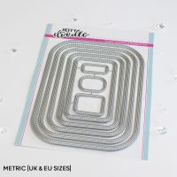 Heffy Doodle - Stitched Rounded Metric Rectangle die set