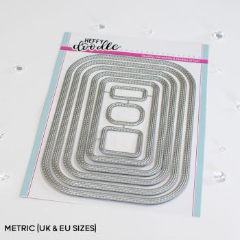 ***NEW*** Heffy Doodle - Stitched Rounded Metric Rectangle die set