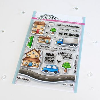 ***NEW*** Heffy Doodle - Home Sweet Home clear stamps