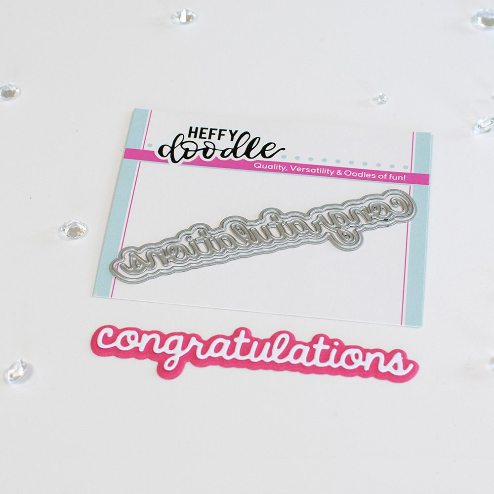 ***NEW*** Heffy Doodle - Congratulations shadow word die set