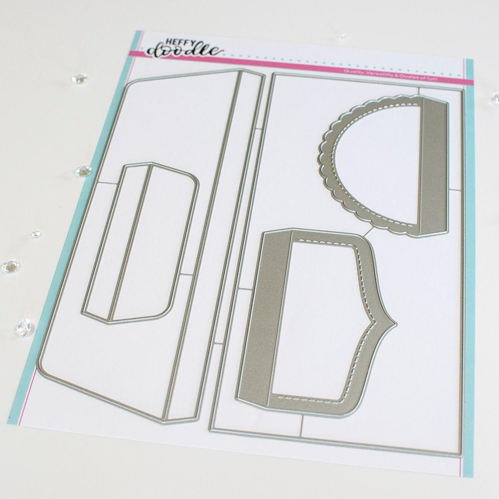 ***NEW*** Heffy Doodle - Slimline Envelope #10 Die set