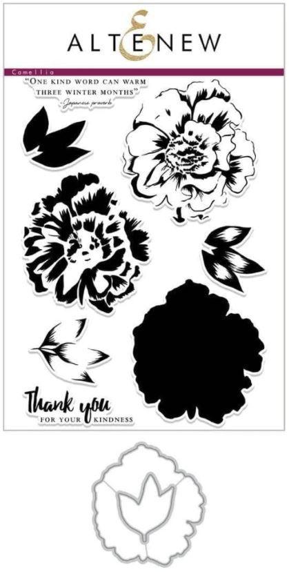 Build-A-Flower: Camellia Layering Stamp & Die Set - Altenew