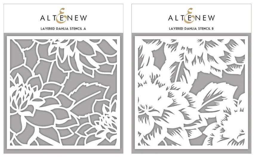 Layered Dahlia A & B Stencil Bundle - Altenew