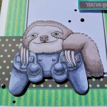 Super sloths - Digital stamp set - Crafty Purple Frog